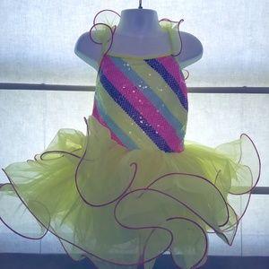 Revolution Dance Costume Tutu Girls Size 6/7 Mediu